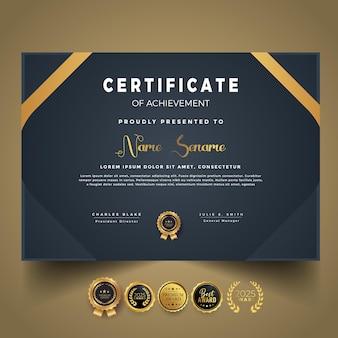 Nowoczesny szablon certyfikatu z projektowaniem kształtów
