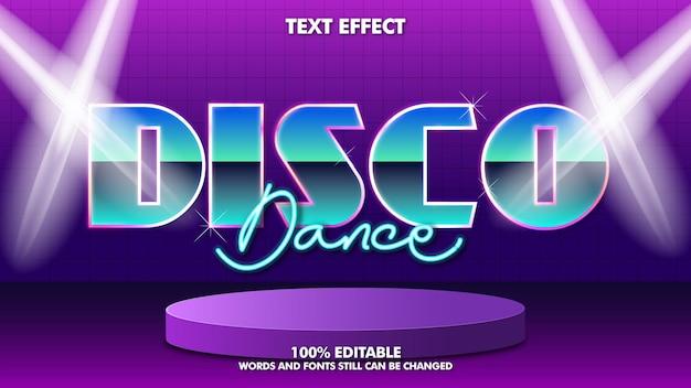 Nowoczesny szablon edytowalnego efektu tekstowego w stylu retro z lat 80.