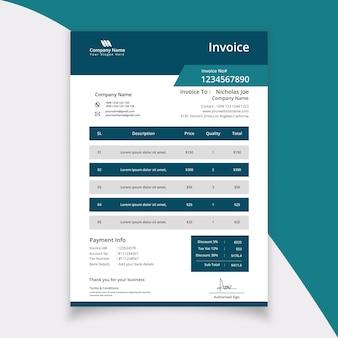 Nowoczesny szablon faktury papierniczej design for business