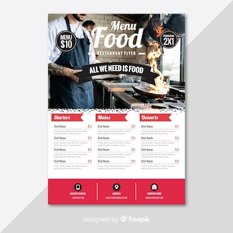 Nowoczesny szablon flyer restauracji w restauracji