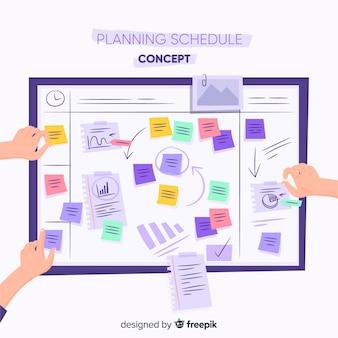 Nowoczesny szablon harmonogramu planowania