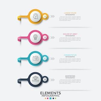 Nowoczesny szablon infografika