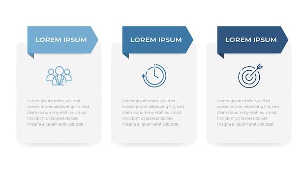 Nowoczesny szablon infografiki osi czasu 3 opcje