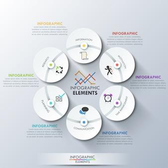 Nowoczesny szablon infografiki