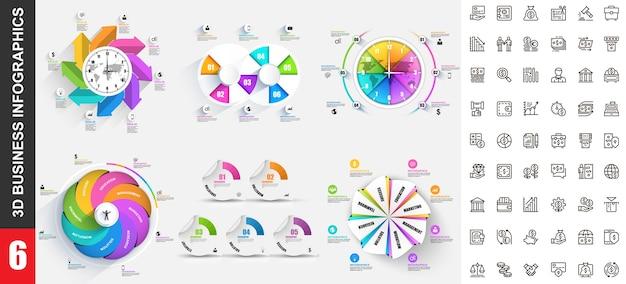 Nowoczesny Szablon Infografiki Premium Wektorów