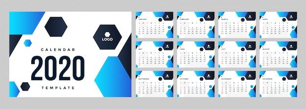Nowoczesny szablon kalendarza korporacyjnego