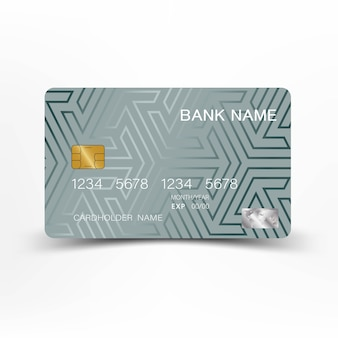 Nowoczesny szablon karty kredytowej.