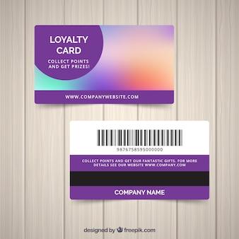 Nowoczesny szablon karty lojalnościowej z kolorowym stylu