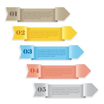 Nowoczesny szablon kolorowy numerowany baner