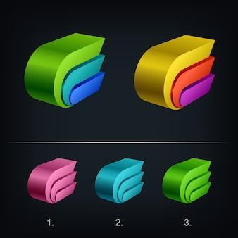 Nowoczesny szablon logo 3d