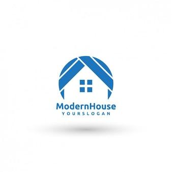 Nowoczesny szablon logo dom