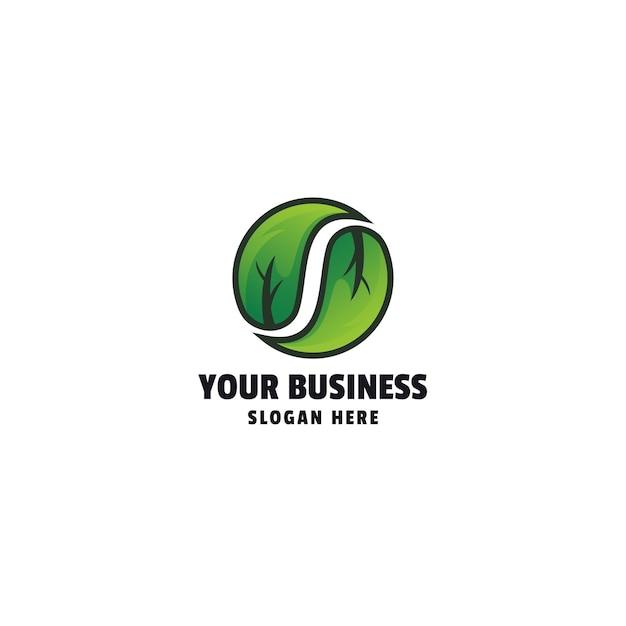 Nowoczesny szablon logo liścia