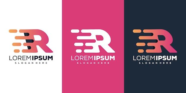 Nowoczesny szablon logo litery r tech