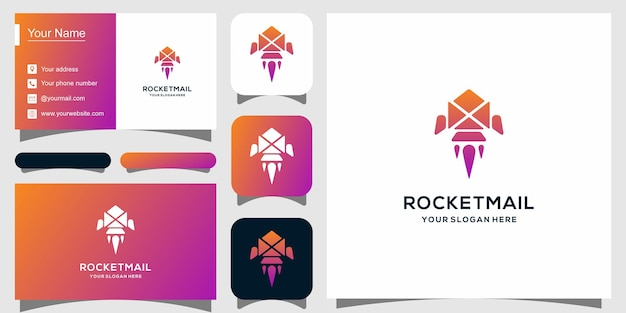 Nowoczesny szablon logotypu dla usługi e-mail i wizytówki