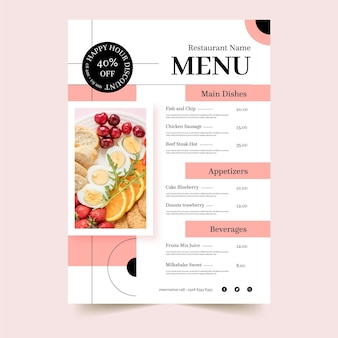 Nowoczesny szablon menu