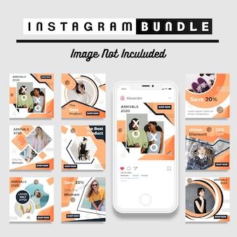 Nowoczesny szablon mody post instagram