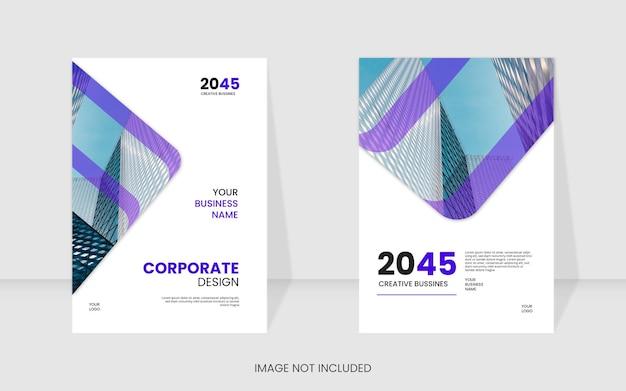 Nowoczesny szablon okładki książki korporacyjnej