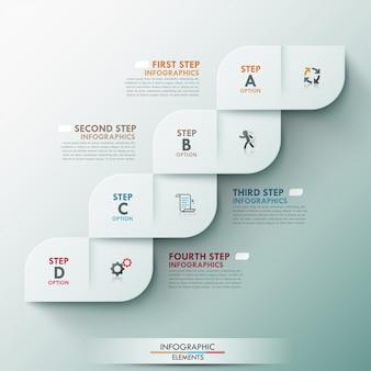 Nowoczesny szablon opcji infografiki