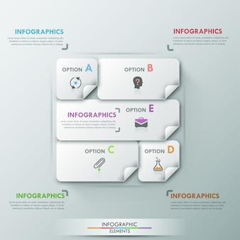 Nowoczesny szablon opcji infographic