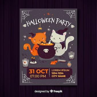 Nowoczesny szablon plakat party halloween