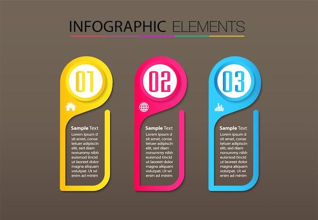 Nowoczesny szablon pola tekstowego, baner infografiki