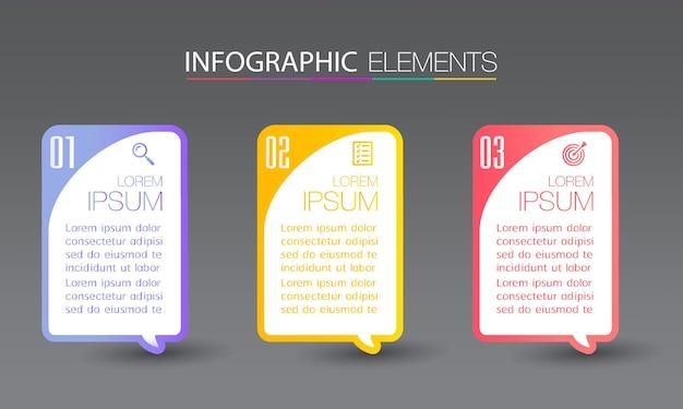 Nowoczesny szablon pola tekstowego, infografiki transparent