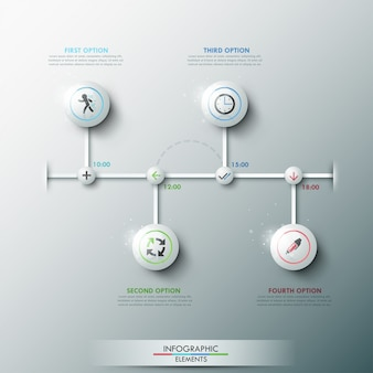 Nowoczesny szablon procesu infographic