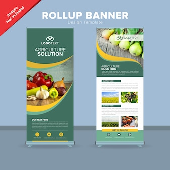 Nowoczesny szablon projektu baneru rollup