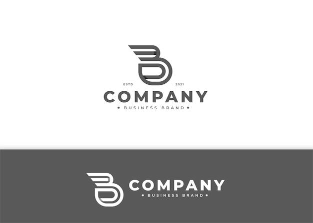 Nowoczesny szablon projektu logo litery b