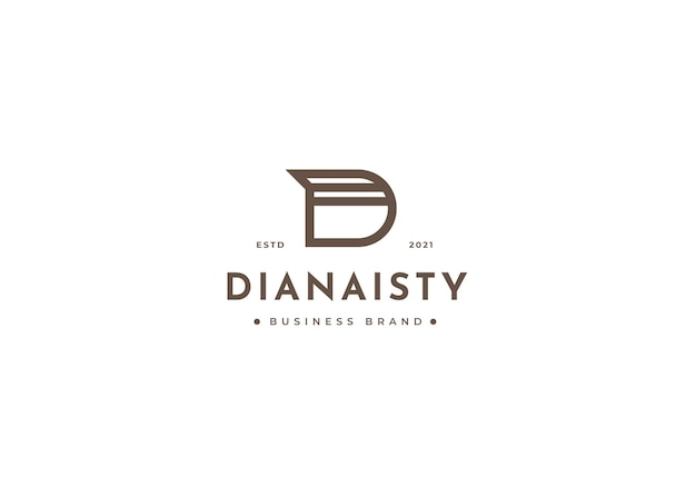 Nowoczesny szablon projektu logo litery d