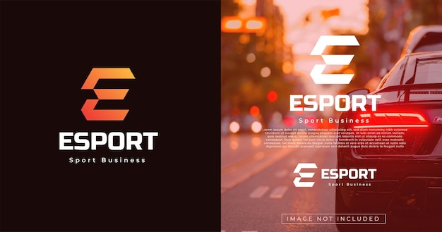 Nowoczesny szablon projektu logo w stylu monogramu litery e