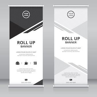 Nowoczesny szablon projektu roll up banner
