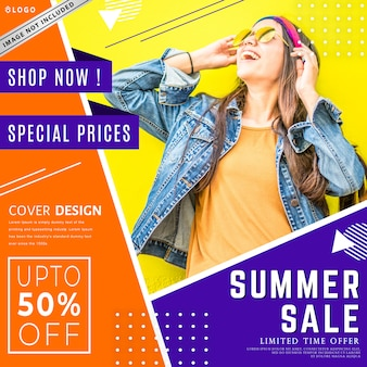 Nowoczesny szablon sprzedaż transparent moda