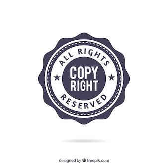 Nowoczesny szablon symbol praw autorskich