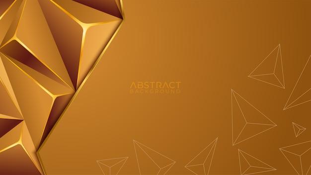 Nowoczesny szablon tło złoto o geometrycznym kształcie