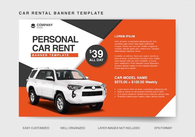 Nowoczesny szablon transparent do wypożyczenia samochodu