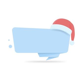 Nowoczesny szablon transparent nowy rok i boże narodzenie z czapką mikołaja