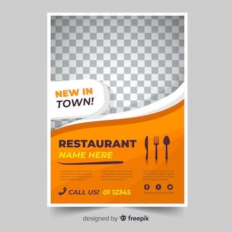 Nowoczesny szablon ulotki w restauracji
