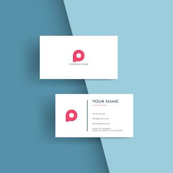 Nowoczesny szablon wizytówki, projektowanie logo.