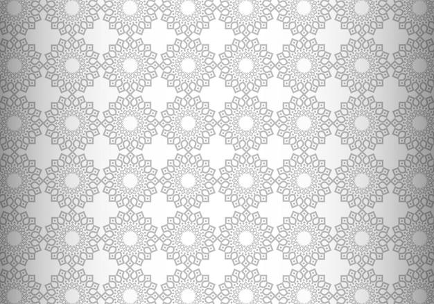 Nowoczesny szary geometryczny wzór mandali