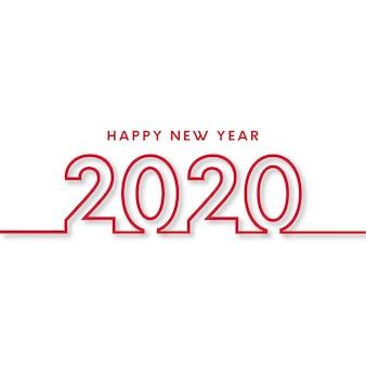 Nowoczesny szczęśliwego nowego roku