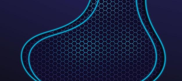 Nowoczesny sześciokątny wzór futurystyczny wektor tapety do gier