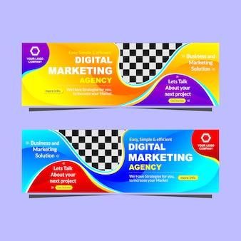 Nowoczesny sztandar agencja marketingu cyfrowego