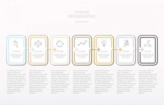 Nowoczesny tekst kwadratowy infografika.
