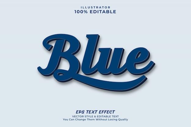 Nowoczesny tekst w kolorze niebieskim