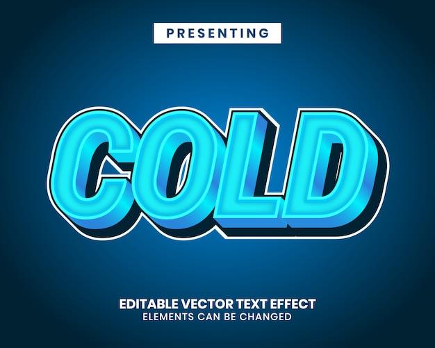 Nowoczesny tekstowy efekt edytowalny z efektem zimna