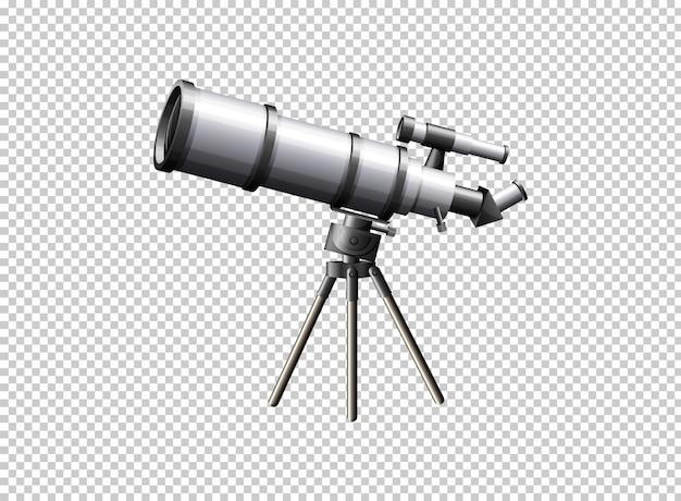 Nowoczesny teleskop na przezroczystym