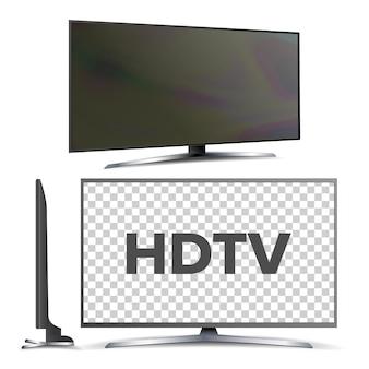 Nowoczesny telewizor led z ekranem lcd hdtv