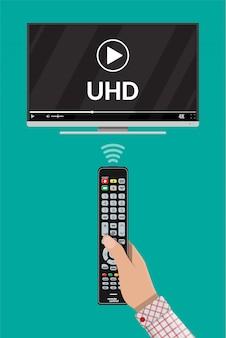 Nowoczesny telewizor z ekranem o ultra wysokiej rozdzielczości