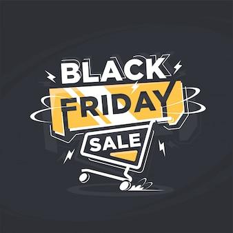 Nowoczesny transparent czarny piątek sprzedaż